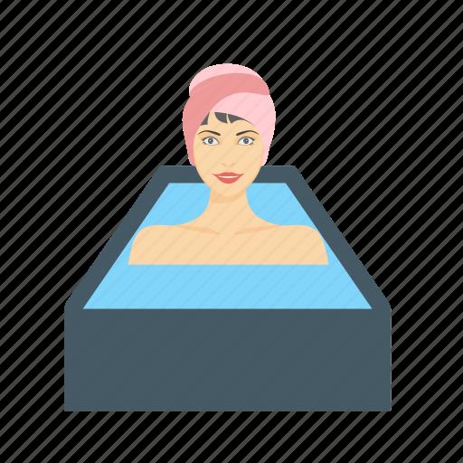 bath, hot, hygiene, shower, steam, washing, water icon