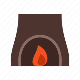 burning, cabin, fire, fireplace, home, warm, winter icon
