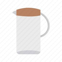 cork, glass, jug, transparent drink, water, white icon