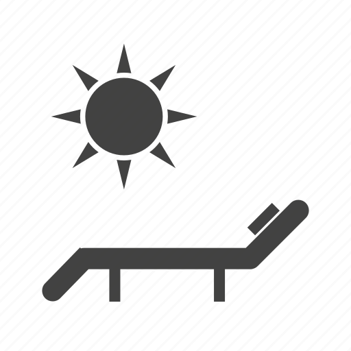 beach, chair, heat, summer, sun, sun bathing, umbrella icon