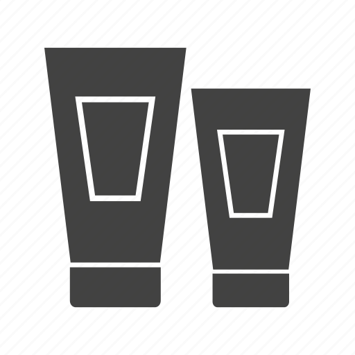 bottle, cosmetic, cream, shampoo, toothpaste, tube icon