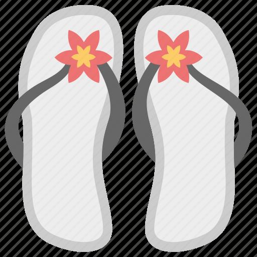 day off, flip flops, footwear, sandals, slippers icon