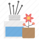 incense, incense burner, incense sticks, incense therapy icon