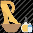 aromatherapy, beauty treatment, foot massage, foot spa, pedi cure, pedicure icon