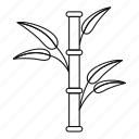 asia, asian, bamboo, border, botanical, line, outline icon