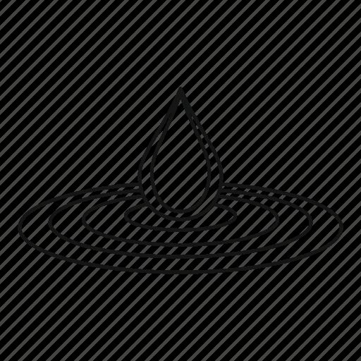 aqua, blot, bright, drop, line, outline, water icon