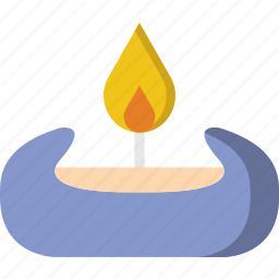 beauty, candles, scented, spa, yoga icon