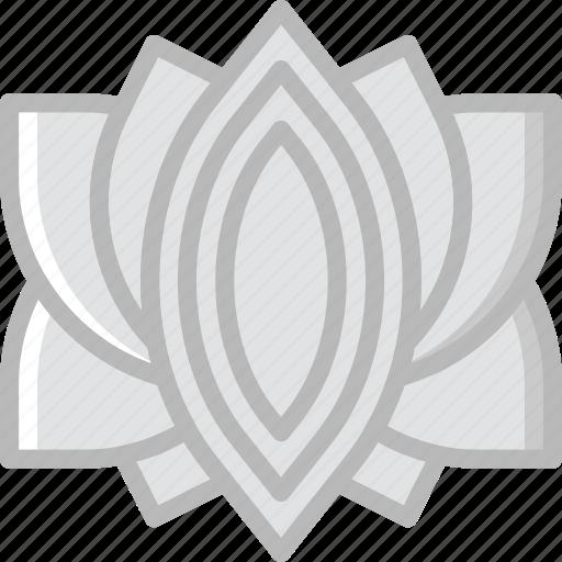 beauty, flower, lotus, spa, yoga icon