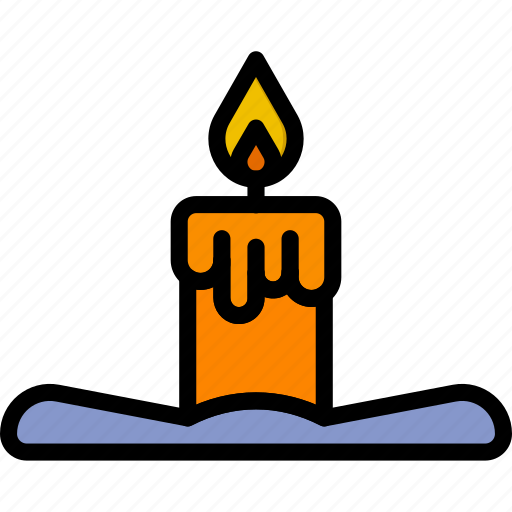 beauty, candle, scented, spa, yoga icon