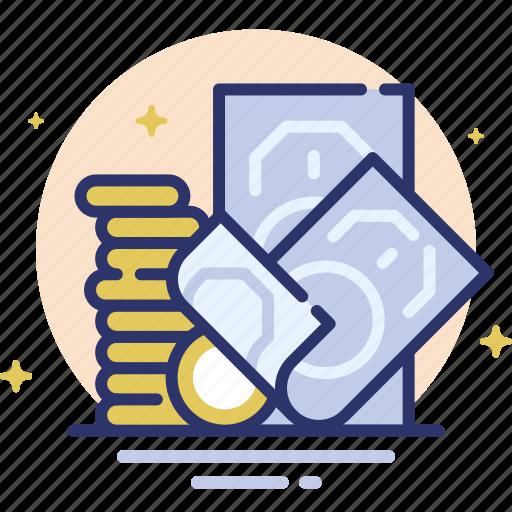 Bills, coins, finance, money, profit icon - Download on Iconfinder