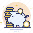 coin, finance, investment, money, pig, piggy bank, savings icon