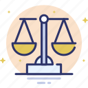 balance, justice, law, legal, scale icon