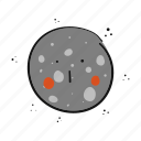 mercury, planet, science, space icon