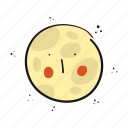astronomy, moon, night, space icon