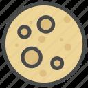 celestial body, moon, planet icon