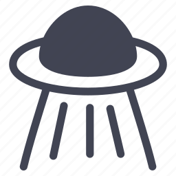 alien, astronomy, illuminated, ship, space, spaceship icon