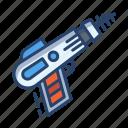 laser, gun