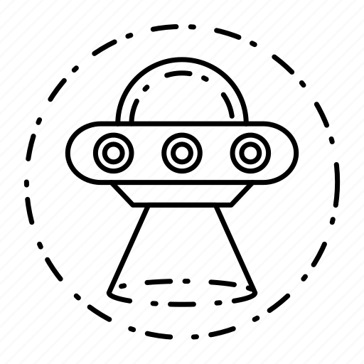 alien, dotted, fiction, ship, space icon