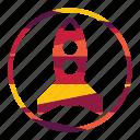design, optimization, rocket, seo, web icon