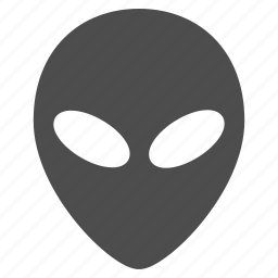 alien face, fantasy, humanoid, monster, space creature, ufo, visitor icon