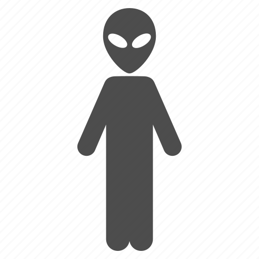alien person, fantasy, humanoid, monster, space creature, ufo, visitor icon