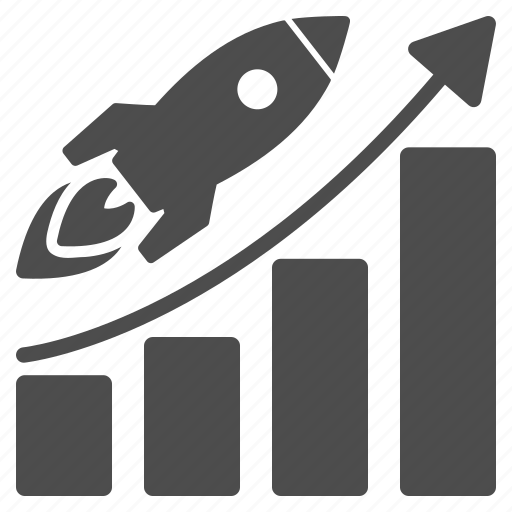 analysis, analytics, business growth, chart, charts, rocket, success start icon