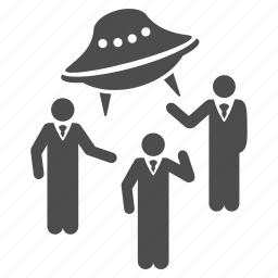 communication, conference, dialog, discussion, space science, spacecraft, ufo discussion icon