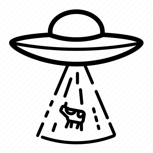 cow, kidnapping, space, ufo, ufo kidnapping icon