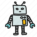 cute, friendly, robot, space