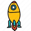 flame, rocket, space icon