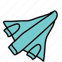plane, rocket, space, transport icon