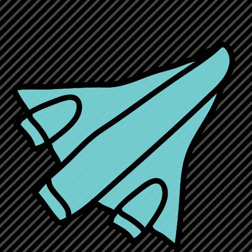 plane, rocket, space, transport icon