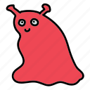 alien, fiction, friendly, science, slime, slug, space icon