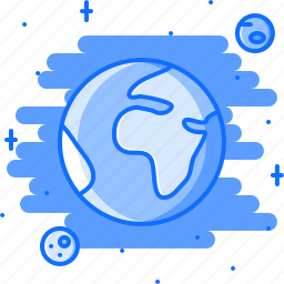 astronomy, discovery, earth, planet, space, star icon