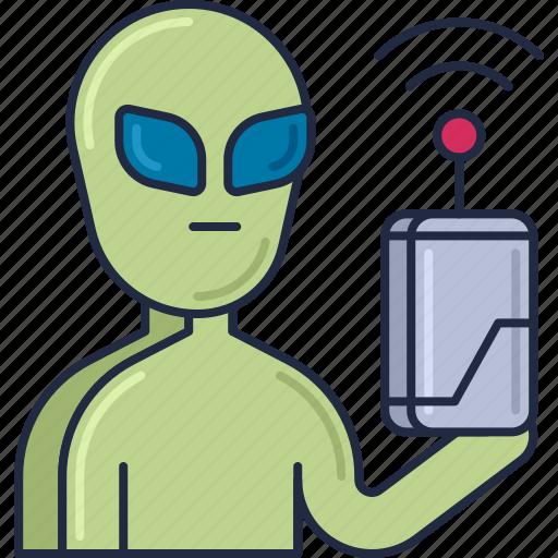 alien, alien communication, alien detector, alien tech, alien technology, tech icon