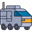 colony, space car, space van, transport icon