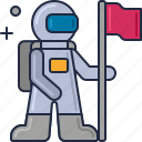 astronaut, cosmonaut, moonwalk, space man, space suit, spaceman icon