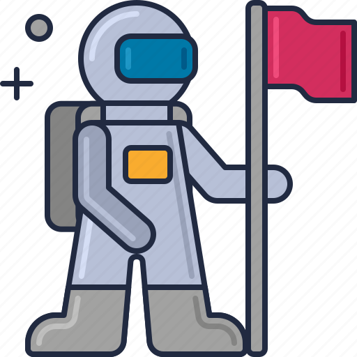 Cosmonaut, astronaut, moonwalk, space man, space suit, spaceman icon - Download on Iconfinder