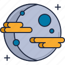 distant planet, galaxy, planet, space, universe icon