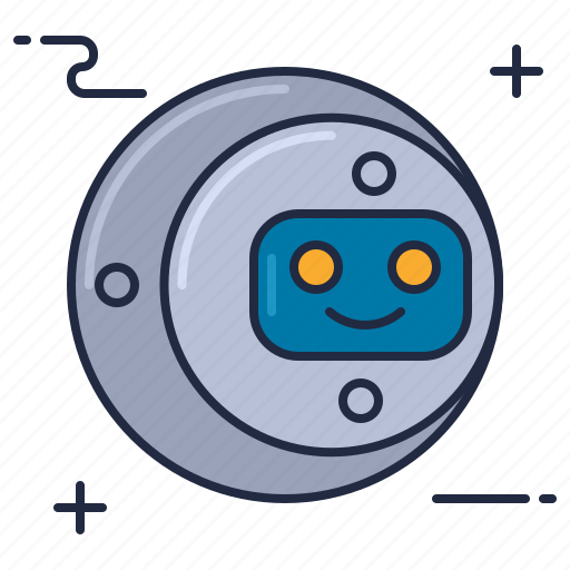 Floating, head, robot, artificial intelligence, floating robot head, robot head, robotic head icon - Download on Iconfinder