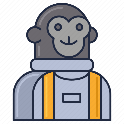 Monkey, astronaut, cosmonaut, space monkey icon - Download on Iconfinder