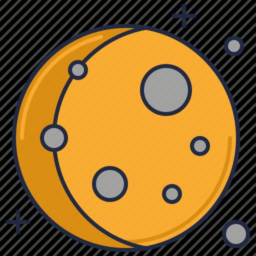 full moon, moon, planet icon