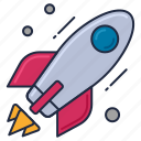 aircraft, launch, missile, rocket, spacecraft, startup icon