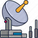 communication, radar, satellite, satellite dish, technology, transmitter icon