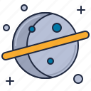 planet, saturn, saturn ring icon