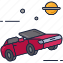 car, space, car in space, roadster, space car, starman, tesla icon
