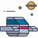 space interceptor, space shuttle, spacecraft icon