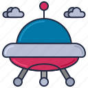 alien, alien spaceship, flying saucer, spaceship, ufo, unknown flying object icon