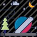 crash landing, spaceship crash, ufo crash, ufo landing icon