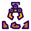 arm, machine, robot icon
